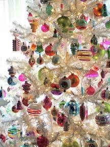 vintage ornaments on white tree flickr photo