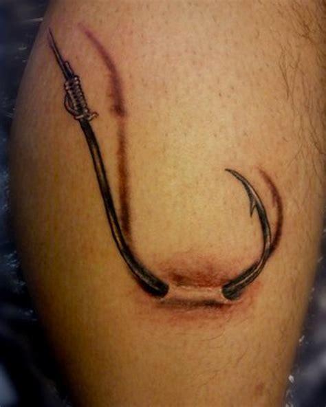 treble hook tattoo fish hook