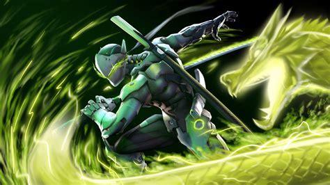 Genji dragon Overwatch Art ninja Wallpaper #553