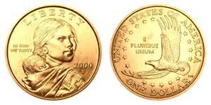 2000 d sacagawea dollars golden dollar value and prices