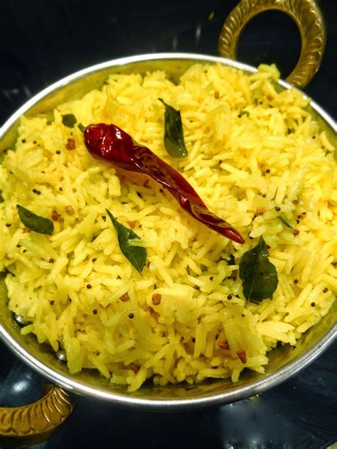 Scrumpdillyicious: Indian-Style Lemon Rice with Kari Leaves Lemon Rice Recipe South Indian Style