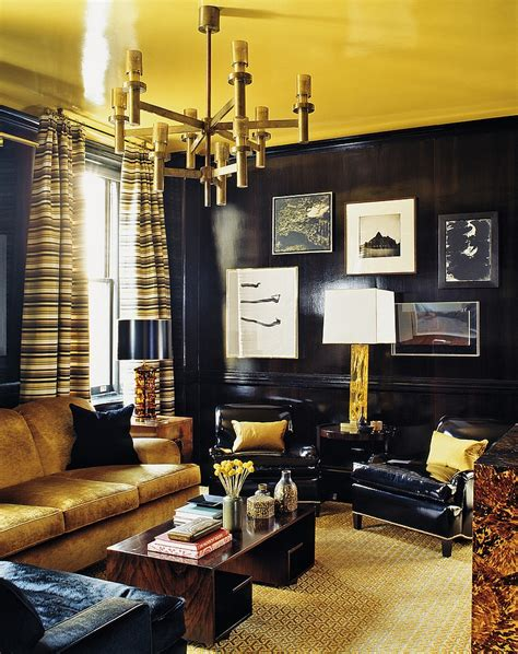 black and gold living room color trends of winter 2015 ideas inspirations
