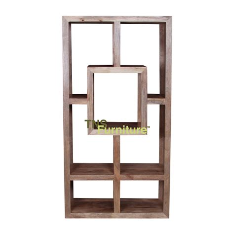 tns furniture mansa mango geometric bookcase