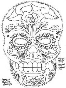 sugar skull coloring page free coloring pages of sugar skull