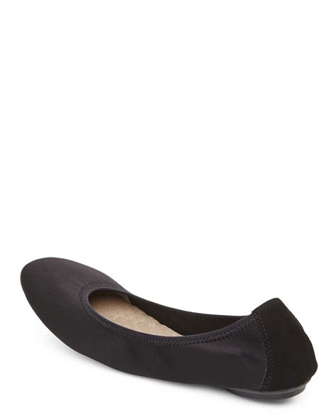 hush puppies flats lyst hush puppies black chaste ballet flats in black