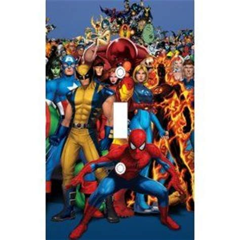 Marvel Heroes Decorative Artifacts by X Marvel Heroes Decorative Light Switch Cover Plate