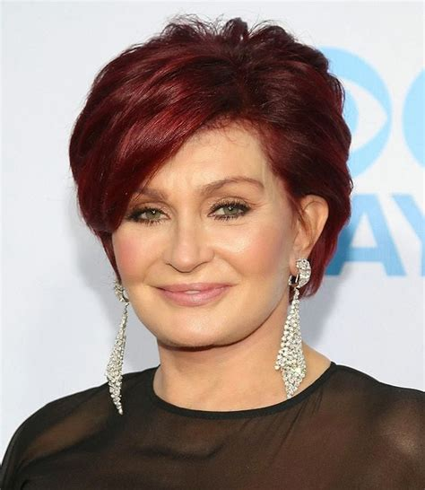 back view of sharob osbournes hair sharon osbourne haircut hairstyles glow get update for