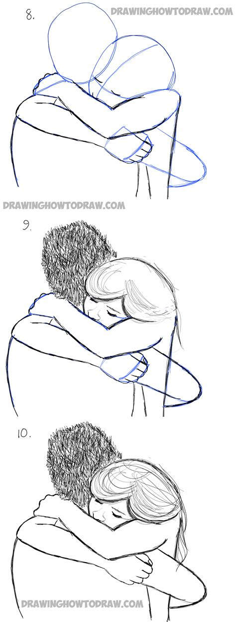 how to draw an i how to draw two hugging drawing hugs step by step