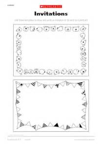 invitation and postcard templates early years teaching resource scholastic
