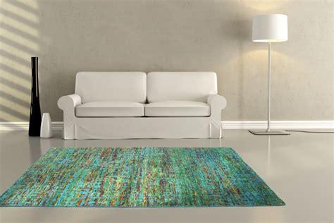 teppich petrol blau teppich handarbeit kurzflor sari seide teppiche natur