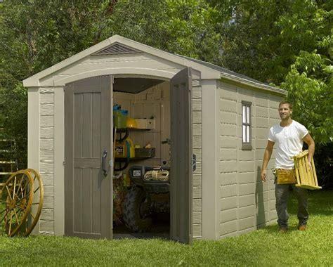 keter factor 8 x 11 plastic garden shed garage storage