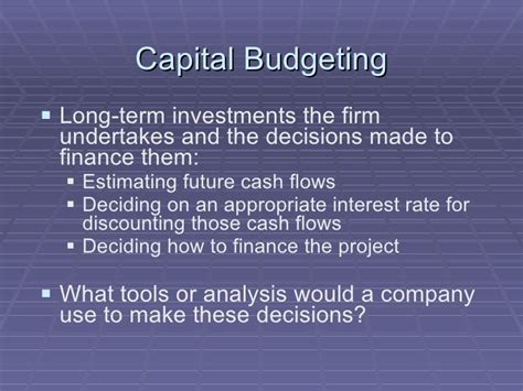 Capital Budgeting Ppt Mba Notes by Capital Expenditures Presentation V3
