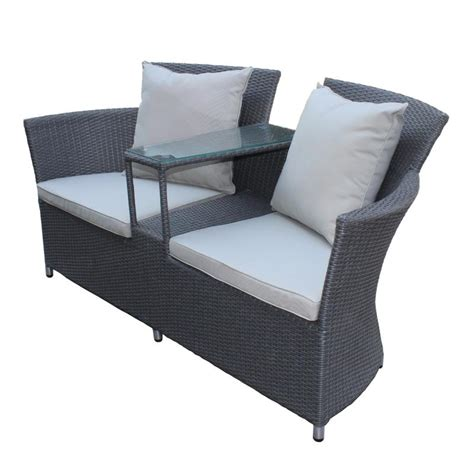 two armchairs poly rattan armchair made for two duo garden armchair