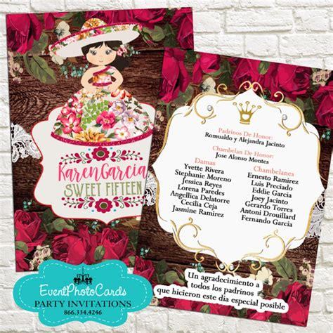 mexican invitations quinceanera lace invitaciones de red roses floral mariachi sweet fifteen invitations sweet