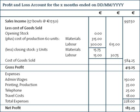 profit and loss account template format of profit and loss account reviews