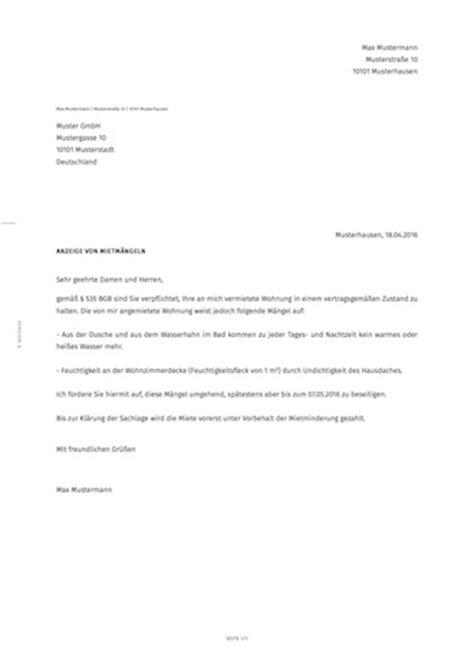Musterbrief Beschwerde Schimmel Antwortschreiben Nach Androhung Einer Gassperre 745239 Beschwerde Beim Vermieter Ber