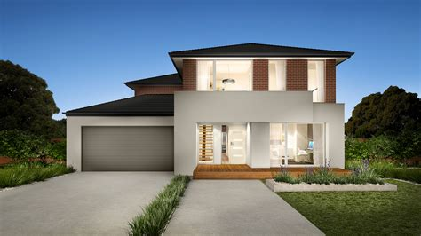 Modern house facade design french country in two storey private nurani