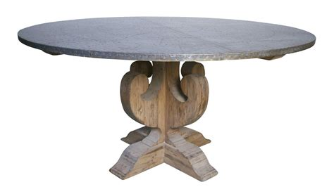 how to clean zinc table top 60 quot dining table pine wood beautiful base