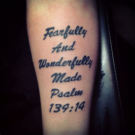 bible verse tattoo psalm 139 14 tattoos pinterest