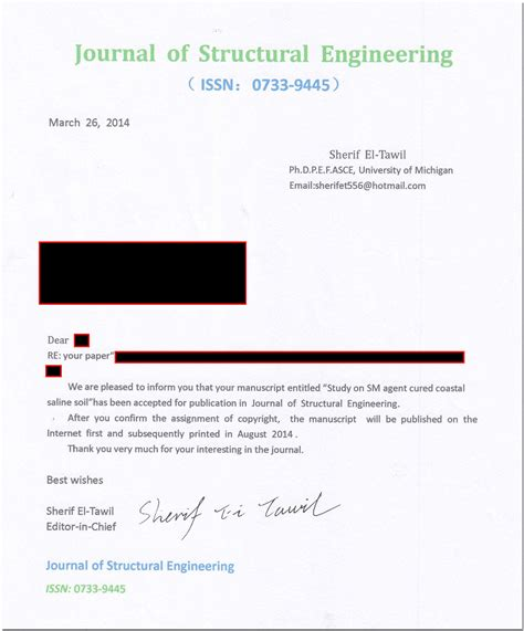 Acceptance Letter For Article Publication Identity Theft Of The Scholarly The Scholarly Kitchen