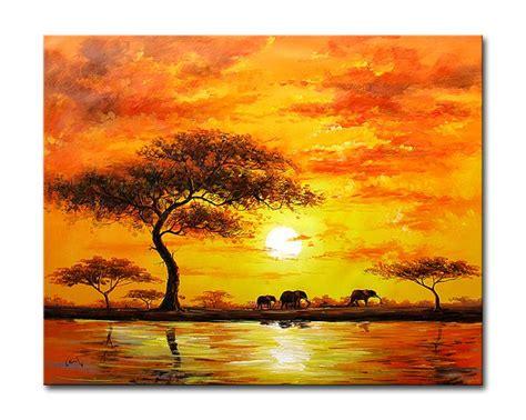 Landscape Artwork Canvas Sunset Paintings Other Artwork Modern