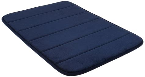 Memory Foam Bath Rug Wpm S Incredibly Soft And Absorbent Memory Foam Bath Mat 17 By 24 Inch Navy