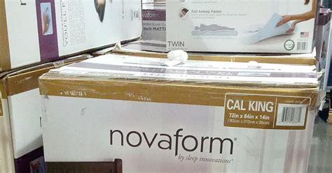 novaform gel memory foam 14 quot ca king mattress costco