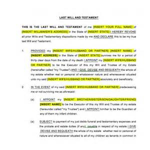 Template Of Last Will And Testament by Best Photos Of Simple Will Template Simple Will Form