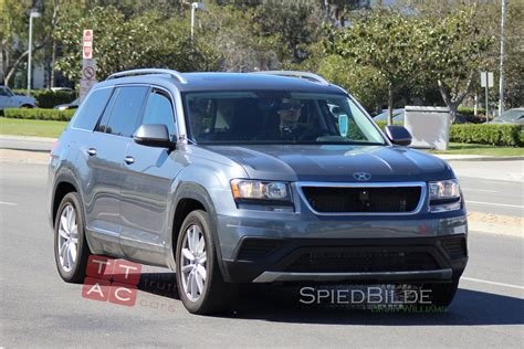 volkswagen suv 3 rows spied is this a three row volkswagen suv with barely