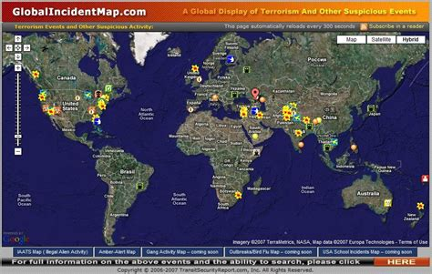 global incident map of record global terrorism