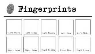fingerprint paper template 14 best images of fingerprint detective worksheet god