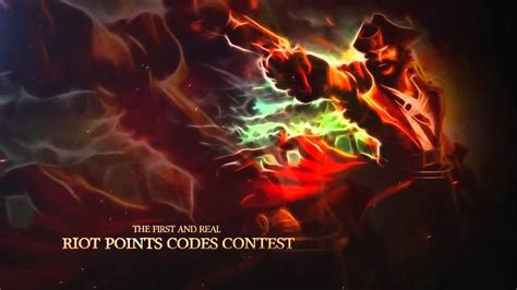 League Of Legends Rp Codes Giveaway - league of legends rp promo codes giveaway youtube