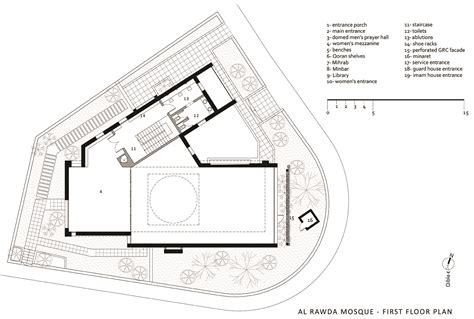 Floor Plan Of A Mosque by Al Rawda Mosque First Floor Plan Archnet