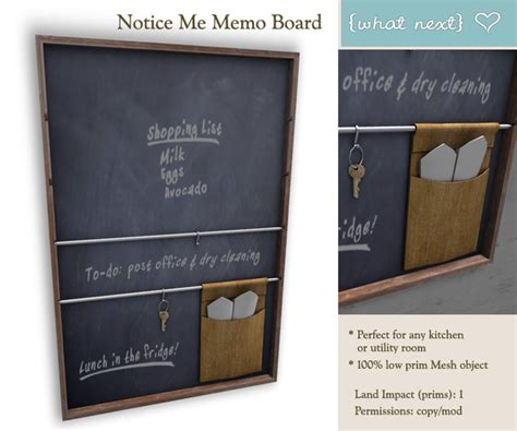 second marketplace what next notice me memo board