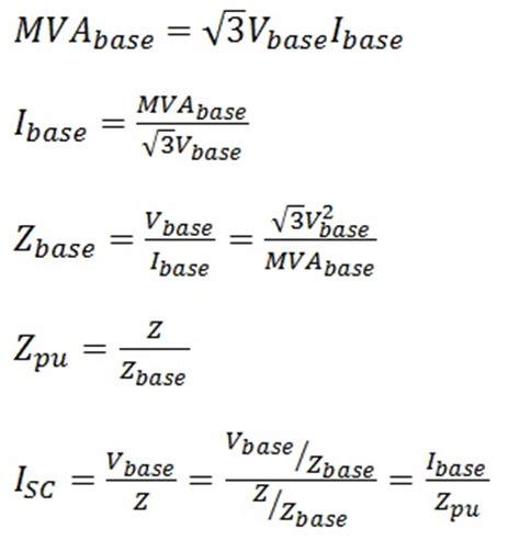transformer impedance formulas circuit faults else