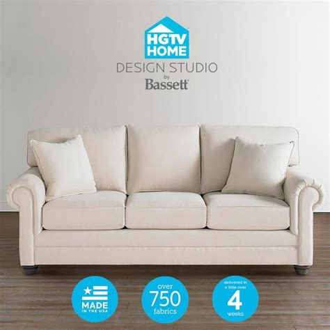 hgtv home design studio bassett hgtv home design studio 7000 customizable large sofa great american home store sofa