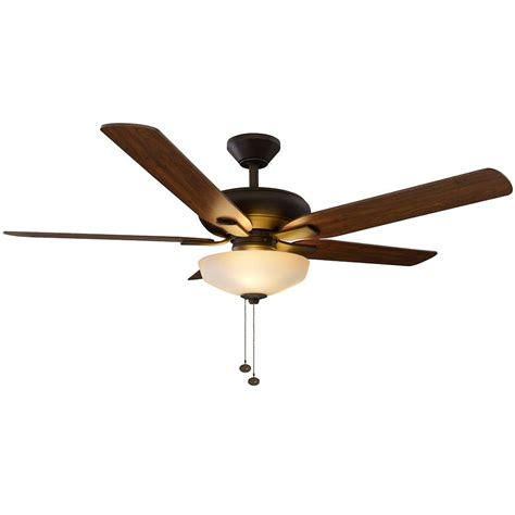rubbed bronze ceiling fan with light hton bay springs 52 in led rubbed bronze