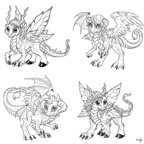 chibi dragon coloring page chibi dragons commission by yuumei on deviantart