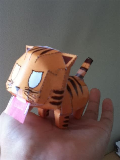 Papercraft Tiger - palmtop tiger papercraft by jeremiahorange on deviantart