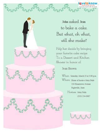 Wedding Announcement Rhymes by Wording For Bridal Shower Invitations Lovetoknow