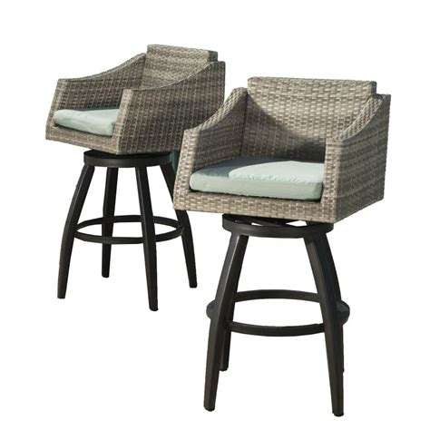 Outdoor Patio Stools Home Decorators Collection 19 In Rivet Garden Patio