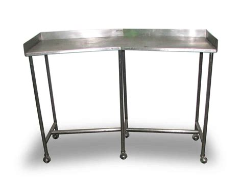 stainless steel lab table on wheels olde things