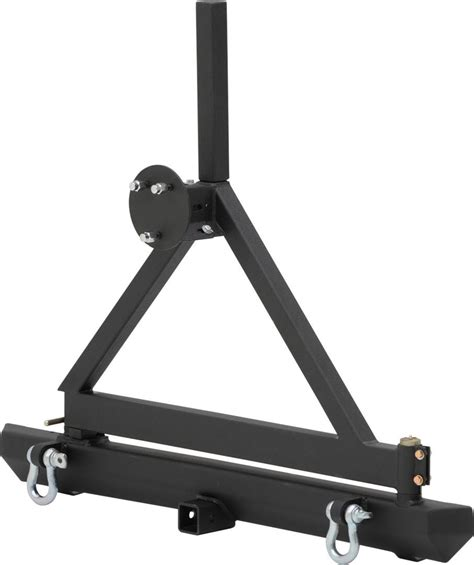 universal swing out tire carrier smittybilt classic rear bumper with 2 quot receiver swing