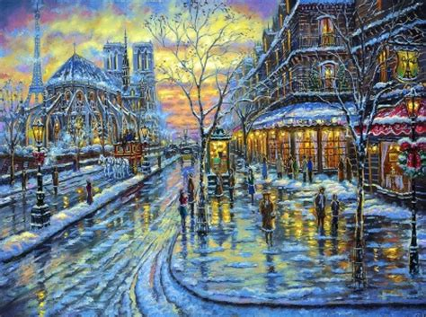 christmas in paris other & abstract background