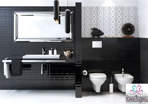 Modern Black Bathroom 20 Creative Black And White Bathroom Ideas Decoration Y