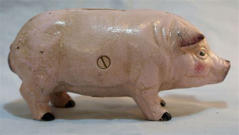 pig piggy bank cast iron pig piggy bank hog farm animals country kitchen