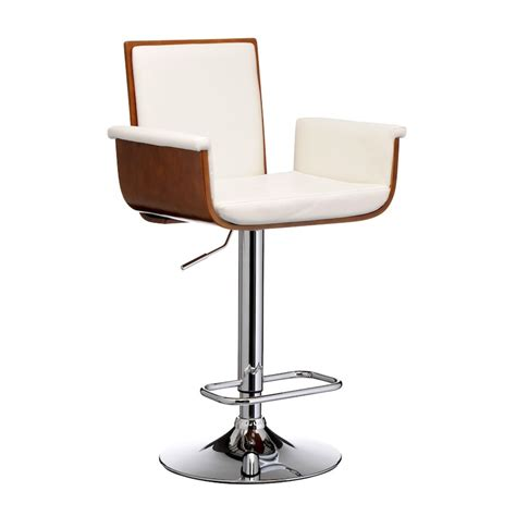Stylish Bar Stools Uk by Stylish Bar Stool With Arms White Leather Bar Stools With