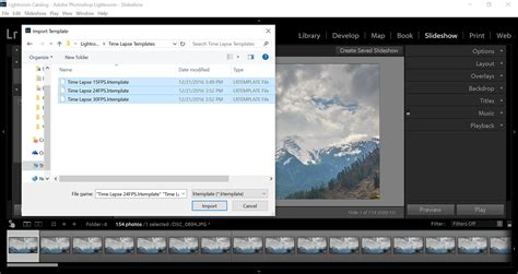 lightroom templates to the fast of time lapse with photoshop lightroom