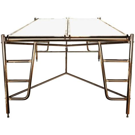 Marble Boardroom Table Scaffold Conference Table In Marble And Bronze With Seating For Eight For Sale At 1stdibs