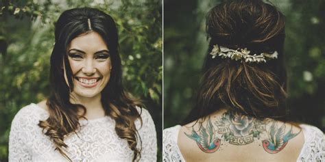 tattooed bride 19 rad brides who rocked their tattoos on the big day